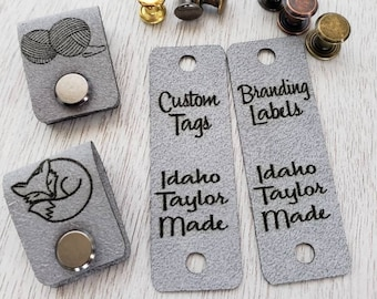 Ultra Suede Tags