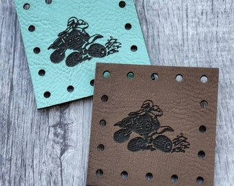 4 Wheeler PATCHES Faux Leather Patch!  Knit Hat Patch!  Crochet Beanie Patch!  Cup Cozy Patch! Blanket Patches!