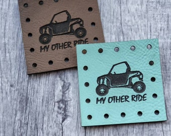 Side by Side.  My other ride PATCHES Faux Leather Patch!  Knit Hat Patch!  Crochet Beanie Patch!  Cup Cozy Patch! Blanket Patches!