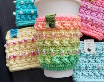 Coffee House Mug Cozy  Crochet Pattern! PDF Digital File!  Coffee Mug Cozy!  Cup Cozy! Travel Mug!