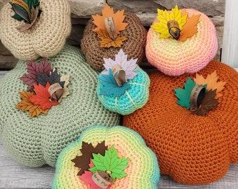 Harvest Time Pumpkins  Crochet Pattern! PDF Digital File!  Farm house Pumpkin Pattern!  Rustic! Autumn Pumpkins! Fall Pumpkins! Fall Decor!