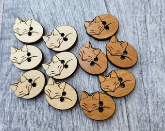 Wood Buttons & Tags