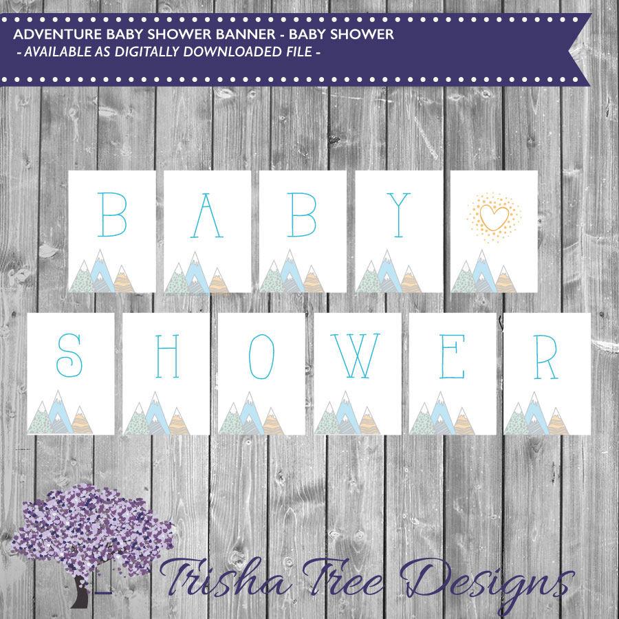 Adventure Awaits Baby Shower Banner Baby Shower Banner Etsy
