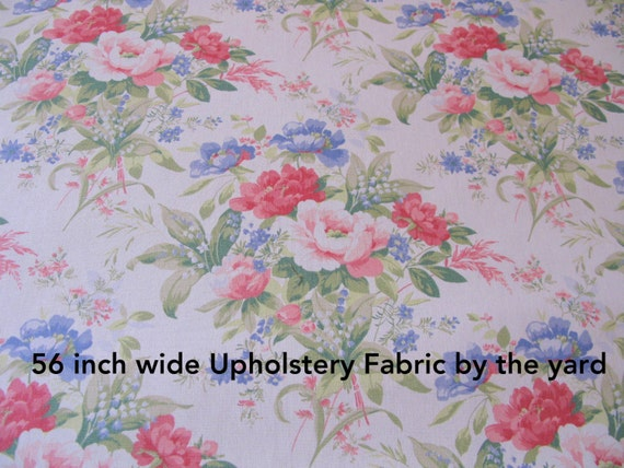 Shabby Chic Fabric 1 Yard Floral Upholstery 56 Wide Etsy