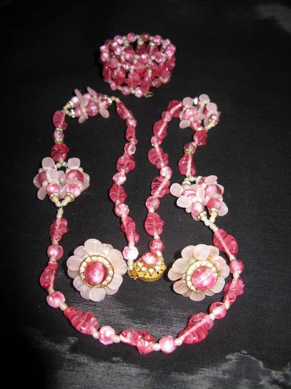 Rare Miriam Haskell Jewelry Set | Vintage Opera Ne