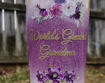 Best Grandma Ever Tumbler, Grandmother Gift, Best Granny Ever, Best Nanna Ever, Grandparent Gift, Personalized Tumbler, Best Grandmom Ever