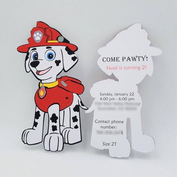 Marshall Paw Patrol Invitations Paw Patrol Birthday  6e24d45b581c