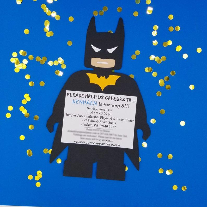 Batman Birthday Invitations Batman Invitations Batman Etsy