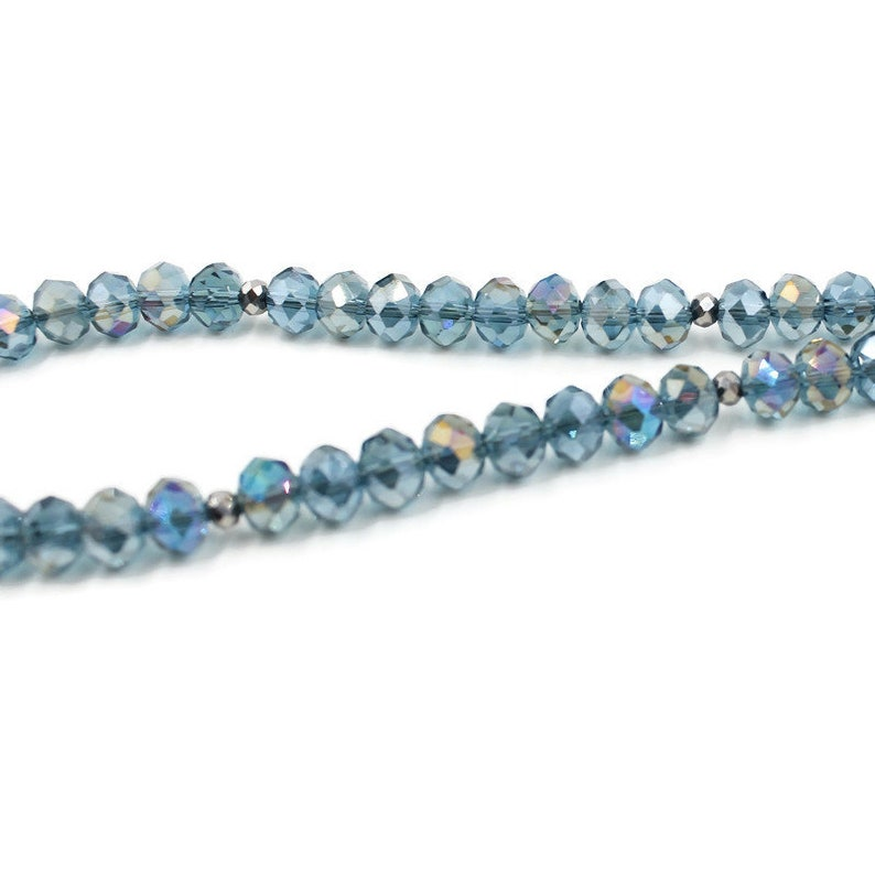 Lanyard Necklace Badge Holder Crystal Lanyard Blue Lanyard
