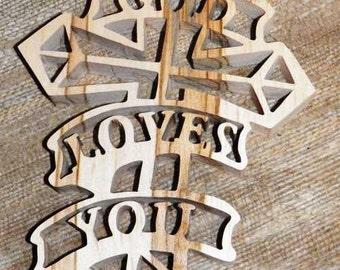 god loves you cross