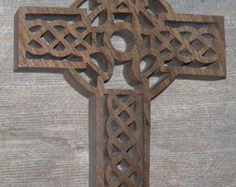 celtic cross walnut