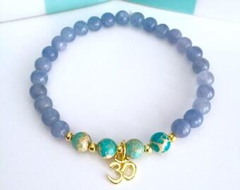 Mala Bracelet, Mala beads bracelet, Wrist Mala, 108 Mala bracelet, Gray quartz bracelet, Healing bracelet, Mala gift set, Yoga bracelet,BMGQ