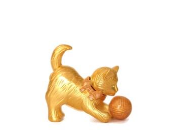 Vintage Estée Lauder Perfume Compact, Estée Lauder Playful Kitten Compact, Estée Lauder Compact Kitten, Estée Lauder Cat, Pleasures Perfume
