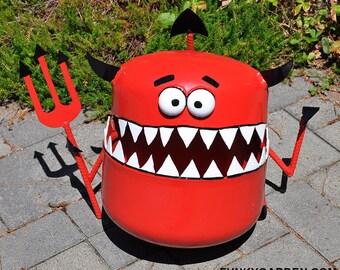 Garden Devil Propane Tank Sculpture