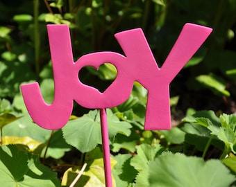 Joy Metal Garden Stake Ornament