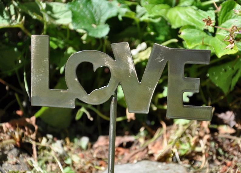 Love Metal Garden Stake image 0