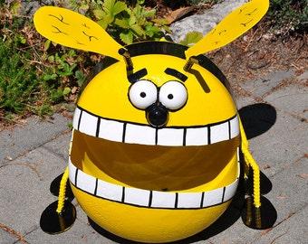 Happy Bee Propane Tank Sculpture