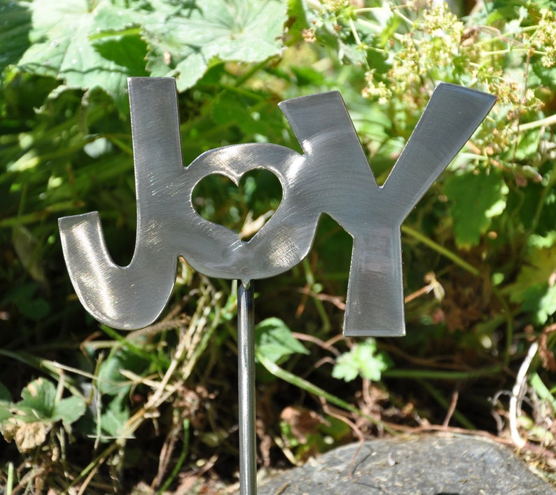 Joy Metal Garden Stake Ornament image 0