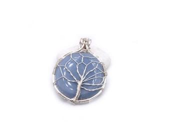 Angelite tree of life, tree of life pendant