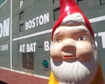 the gnome and the green monster greeting card