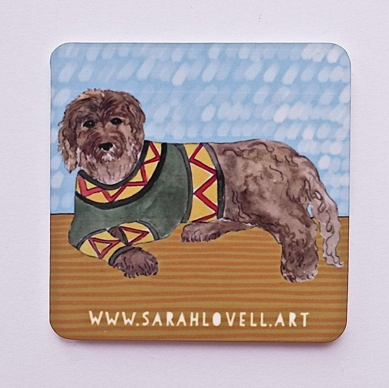 Illustrated Labradoodle Dog Fridge Magnet