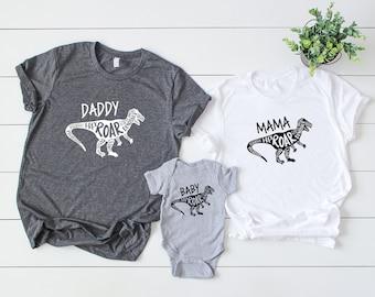 ecaa776c Matching Dinosaur Shirts, Family Shirts, Dinosaur Party Shirts, Dinosaur  Lover Gift, Mama Dinosaur, Baby Dinosaur, Daddy Dinosaur