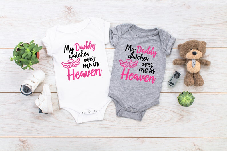 2c71d7fe3ef1 Cute Baby Clothes My Daddy Watches over me in Heaven