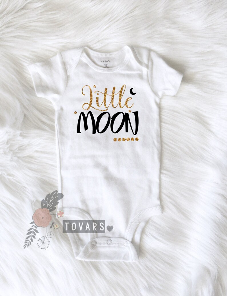 2858d1ef1 Little Moon Girls Shirt Moon Shirt Nursery Rhyme Shirt Newborn   Etsy