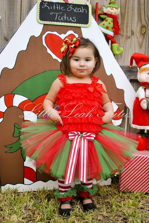 0604b156e6d4 Christmas Tutu Holiday Tutu Red Green Tutu Baby s