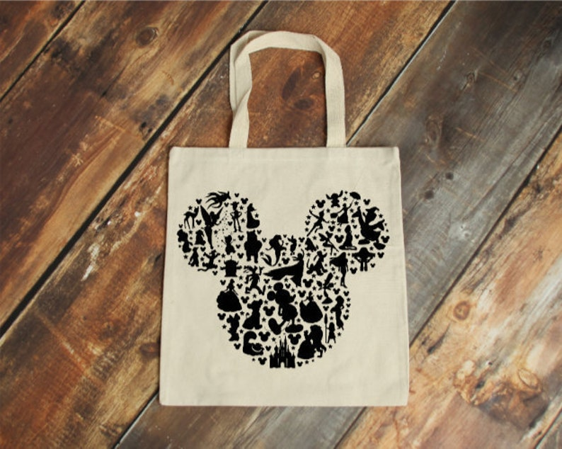 Disney Lover Minnie Mouse Tote Bag Disney Vacation Minnie Mouse Bag Disney Bag Disney Gift Disney Tote Bag Disney Cruise