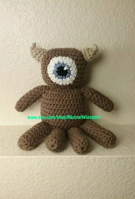 Monsters Inc Inspired Little Mikey Stuffy Toy Crochet Toy Etsy