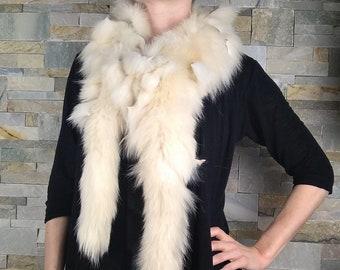 0281dc937047 Foulard en fourrure de renard recyclée, écharpe de fourrure, style boa,  châle fourrrure, F1