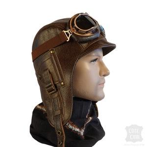 Marron Scrox 1 Pcs Adorable Chapeau De Pilote pour Enfants pour Les Enfants Aviateur Chapeau avec des Lunettes De Protection Cap avec Cache-Oreilles Automne Hiver