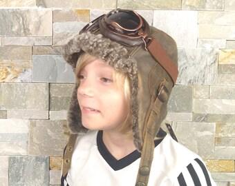 Girl and boy sheepskin hat 40a4850b395b