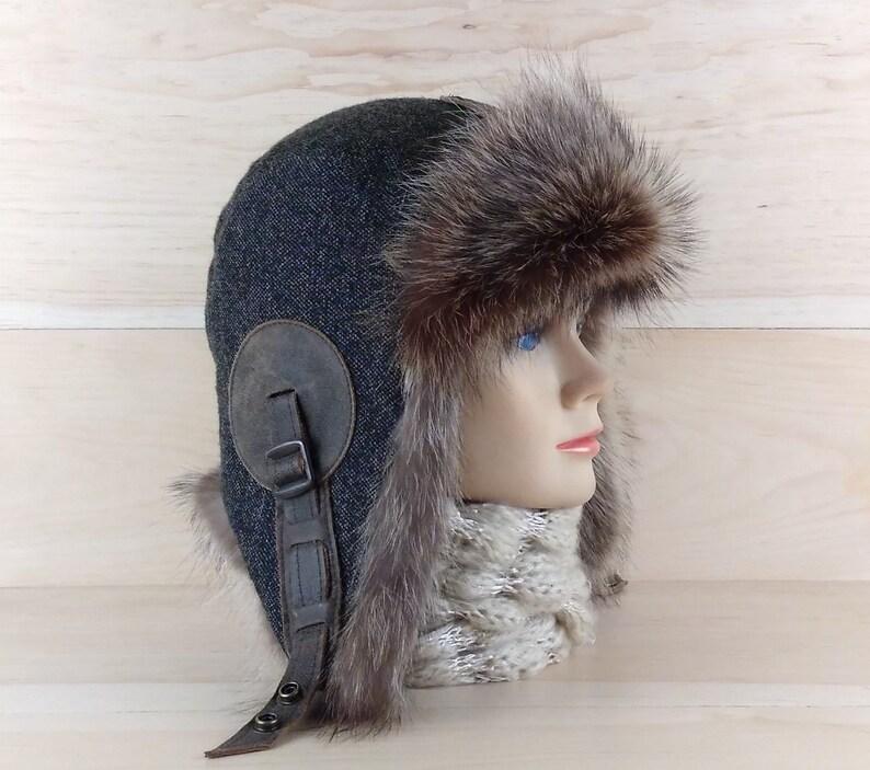 Cappello da donna di pelliccia aviator cappello  b3a0419b3804