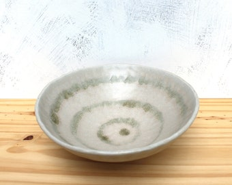 Shallow Ceramic Bowl in Off-White. Handmade Pottery Bowl.