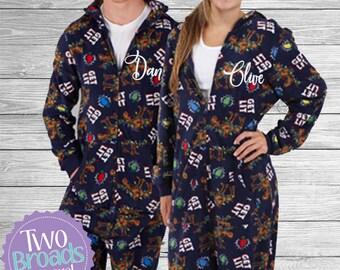 Cat Onesie Pajamas Santa Claus Cat Pajamas Fleece Onesie  e00f39090