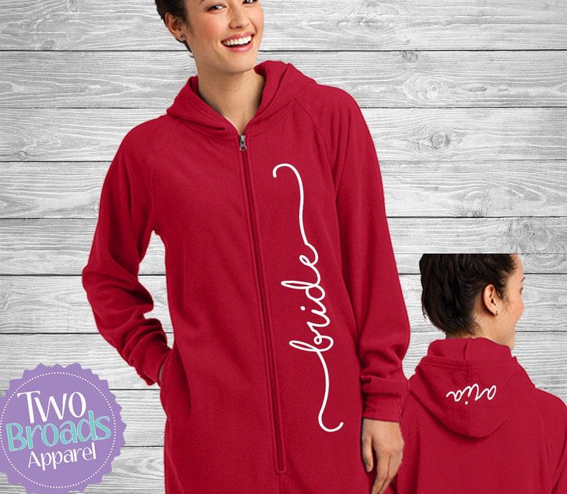 e8053fde00a3 Adult Footie Pajamas Bride Pajamas Wedding Pajamas Mom