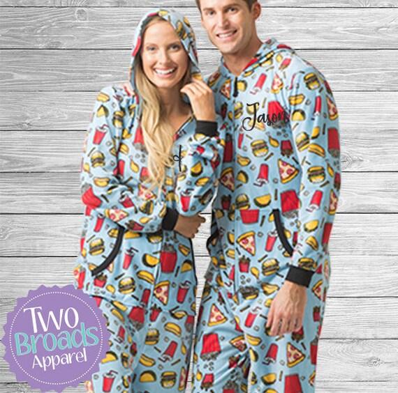 Rapide Alimentaire Grenouillere Pyjama Pyjama Ado Noel Etsy