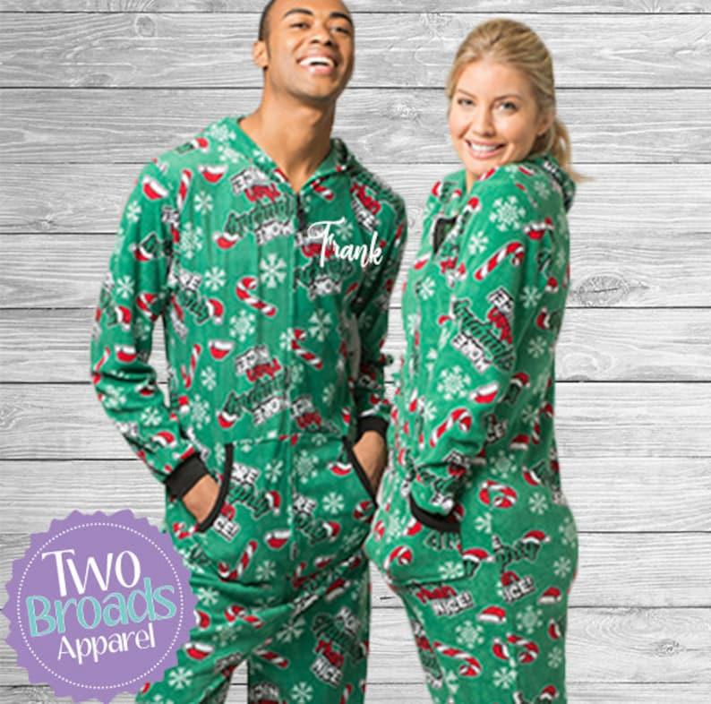 8d9e503c4c Christmas onesie Pajamas couples Pajamas Holiday Pajamas