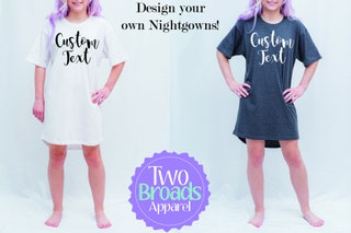 Bridesmaid Pajamas, Design your own, Pajama Tshirt, Bridal Party pajamas, Bride Pajama Shirt, Bridesmaid Nightgown, bridesmaid night shirt