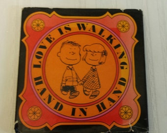 Charlie Brown Book Love is Walking Hand in Hand by Charles Schulz Peanuts Charlie Brown Snoopy Book