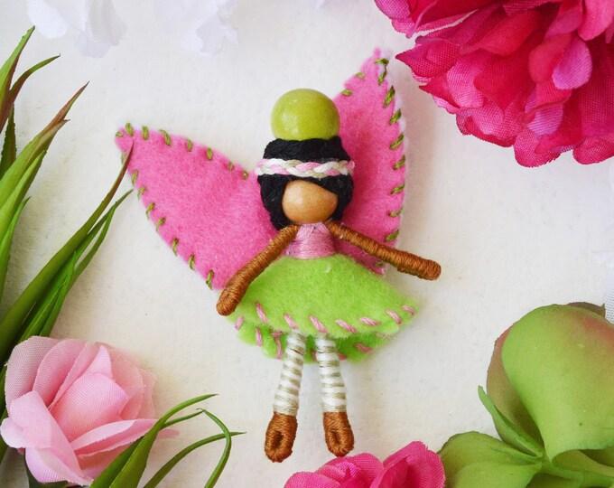 Felt Fairy Doll, Waldorf Fairies, Miniature Fairy Doll