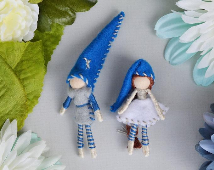 Felt Elf Couple, Miniature Fairy Doll, Waldorf Fairies, Felt Fairy Doll, Boy Fairy Doll