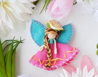 Waldorf Fairy Doll, Miniature Fairies, Felt Fairy Doll Miniature