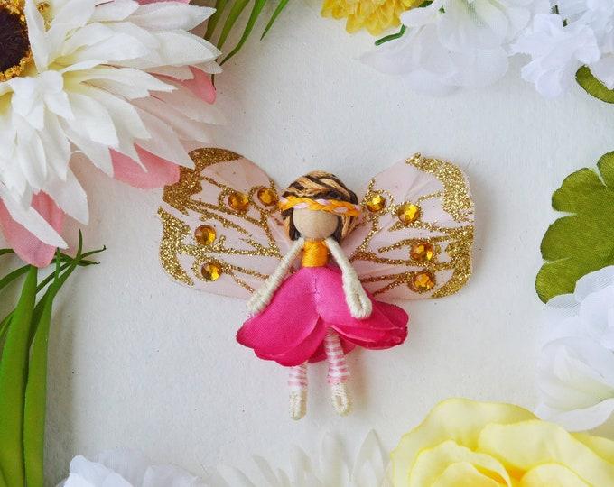 Waldorf Fairy Doll, Flower Fairies, Miniature Fairy Doll
