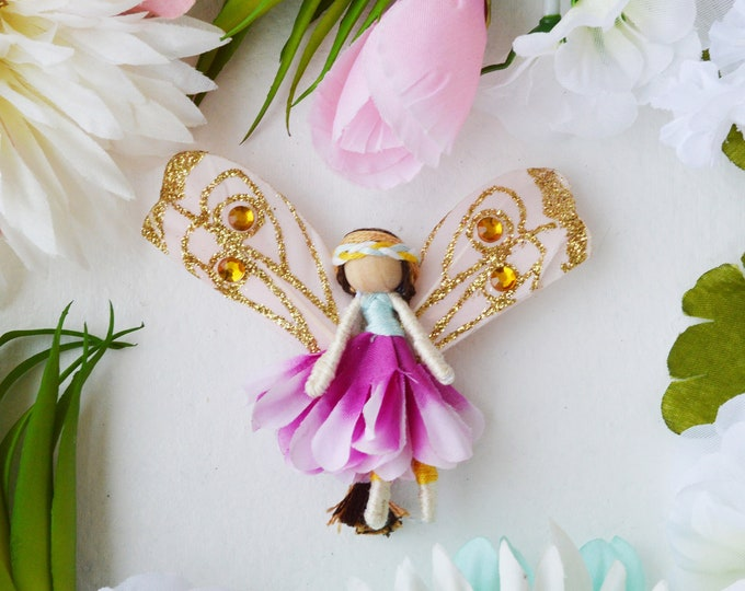 Miniature Fairy Doll, Flower Fairies, Waldorf Fairy Doll