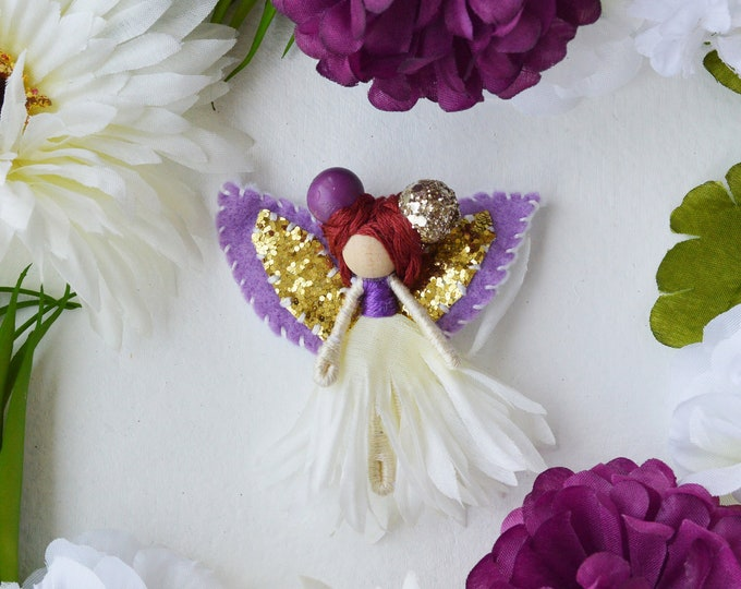 Flower Fairy Doll, Miniature Fairies, Waldorf Fairy Doll