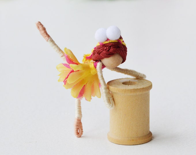 Ballerina Doll, Dance Recital Gift, Ballet Doll, Miniature Fairy Doll