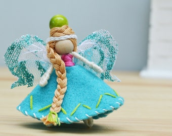 Miniature Fairy Doll, Felt Fairies, Waldorf Fairy Doll, Small Fairy